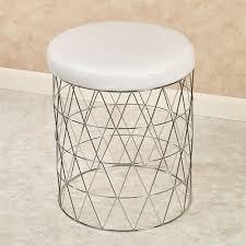 padded vanity stool. Interesting Vanity Cosmos Vanity Stool Chrome For Padded I