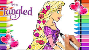 Over 4700 printable disney coloring pages featuring your favorite characters from movies and television, sorted alphabetically from aladdin to zootopia, available in pdf and png format. Rapunzel Coloring Page Tangled Coloring Book Glitter Art Disney Princess Coloring Page Youtube