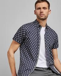 Mens Designer Summer Shirts Haguee Geo Print Cotton Shirt Latest Fashion Design