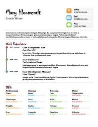 17 Infographic Resume Templates Free Download Hloom