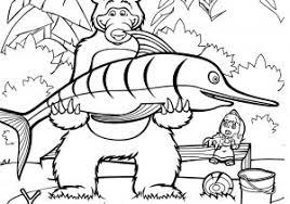 Disegni Da Colorare Masha E Orso Cartoni Animati