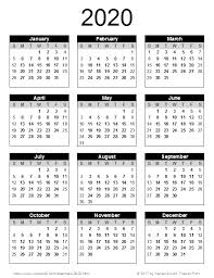Free Calendars For 2020 2020 Calendar Png Transparent Images Png All