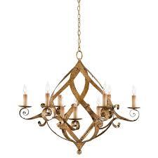 currey company gramercy gold leaf nine light chandelier