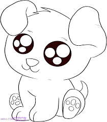 Easy Coloring Pages Of Cute Animals