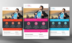 one page flyer template corporate flyer ms word flyer templates on creative market best