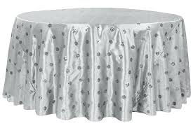120 round white linen tablecloths sequin embroidery taffeta round tablecloth silver 120 inch round white cotton