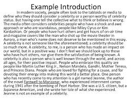 Examples Introduction Essay Good Introduction Examples Of Good