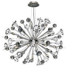 starburst chandelier chrome