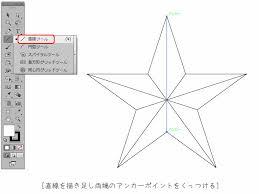 メタリックな星のイラストの作り方イラストレーター