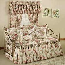 wonderful of the fl pattern daybed bedding with fl grommet curtains and feizy rugs