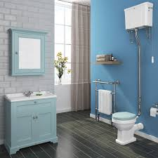 Duck Egg Blue Bathroom Accessories Downton Abbey Traditional 3th Vanity Unit 800mm Wide Duck Egg