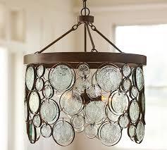 recycled glass pendant light great emery indoor outdoor chandelier pottery barn interior design 22
