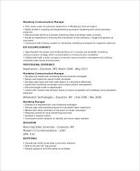 7 Marketing Resume Templates Sample Templates