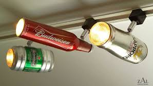Etsy seller ZAL Creations has created this sophisticated track light lamp  from recycled beer cans.