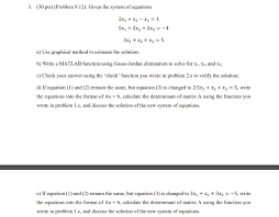 30 pts problem 9 12 given the system of equations