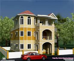 Small Picture eco friendly houses 3 storey South Indian house design
