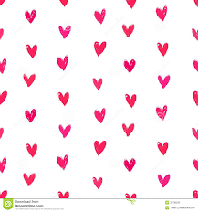 velentine u0027s day pattern with hand painted hearts royalty free