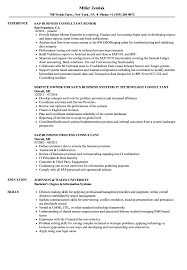 Sap Business Consultant Resume Samples Velvet Jobs