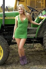 Watch blonde in tractor sex