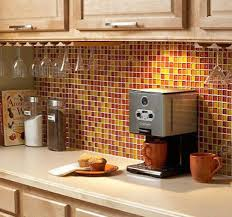 yellow red combination kitchen wall tiles