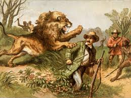 Нападение льва