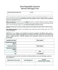 Child Support Contract Template Luxury Receipt Informal