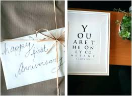 1st year anniversary paper gift ideas for her diy wedding one card husband 1