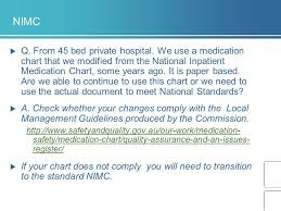 National Inpatient Medication Chart Medication Safety Standard 4 Part 2 Governance And Systems