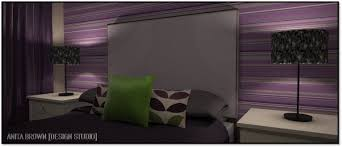 Green And Purple Room Face The Fear Purple And Green Anita Brown 3d Visualisation