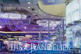 open bar at the chandelier at the
