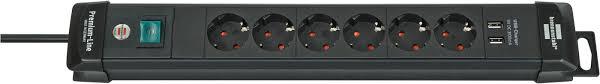 1951160602 <b>Brennenstuhl удлинитель Premium</b>-<b>Line</b>, 3м., <b>6</b> ...
