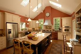 vaulted ceiling kitchen lighting. Cathedral Ceiling Kitchen...love The Sky Lights Vaulted Kitchen Lighting G