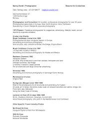 Cruise Consultant Sample Resume Ideas Of Photographers Resume For Cruise Consultant Sample Resume 3