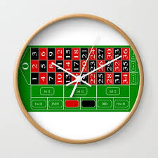 roulette table wall clock