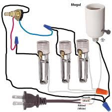 wiring diagram for floor lamp with mogul socket