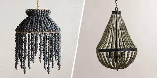 best chandeliers beautiful wood with beads chandelier shades lamp blue light world archived on lighting