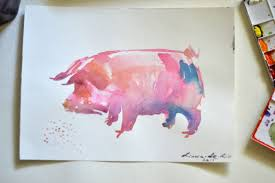 pig wall art items
