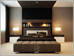 Contemporary Master Bedroom With Black Comfortable Master Single Bed With  Two Drum Shade Table Lamps Also