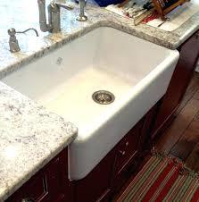 33 white farmhouse sink single bowl inch fireclay