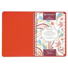 At A Glance 952p200 Playful Paisley Weekly Monthly Planner 5 5 X 8 5 Pink 2014 2015