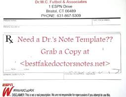 Fake Doctors Note For Work Free Word Sample Buy How To Make A Doctor