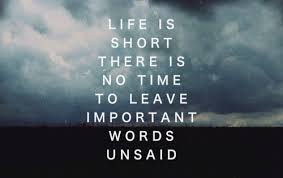 Quotes About Time Beauteous Dont Leave Important Words Unsaid Quote Picture