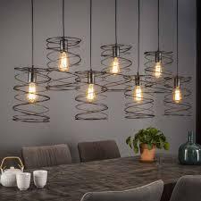 Open Hanglampde Modern Industriële Hanglamp Missouri 7lichtscharcoal