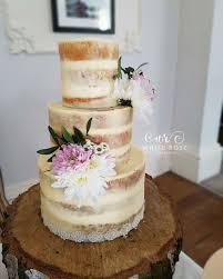 White Rose Cake Design Naked And Semi Naked Wedding Cakes West