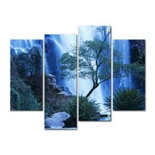 4 pieces modern canvas painting wall art australia waterfall in forest waterfall landscape print on canvas for wall decor in painting calligraphy from  on cheap canvas wall art australia with 4 pieces modern canvas painting wall art australia waterfall in