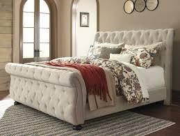 ashley furniture willenburg king upholstered bed in linen
