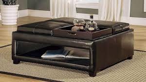 coffee table leather coffee table ottoman fabric storage ottoman coffee table round fabric storage ottoman