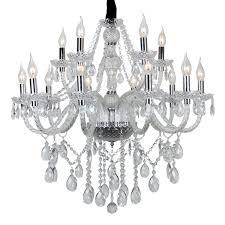 105 Flammig Transparent Kristall Klassisch Kronleuchter Pendelleuchte Deckenleuchte Antik Kristall Lüster E14 Hängeleuchte