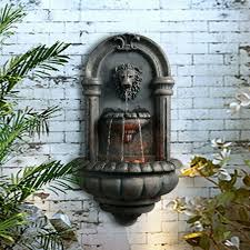 wall mount fountain garden statue