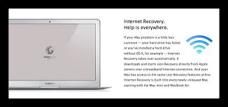 mac only shows internet recovery